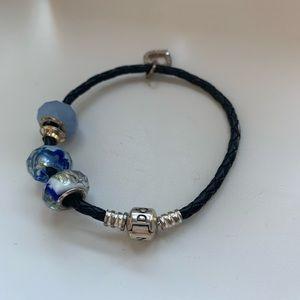 Pandora Black Leather Bracelet